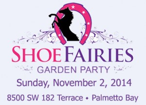shoe fairies logo with date address and bkgrnd
