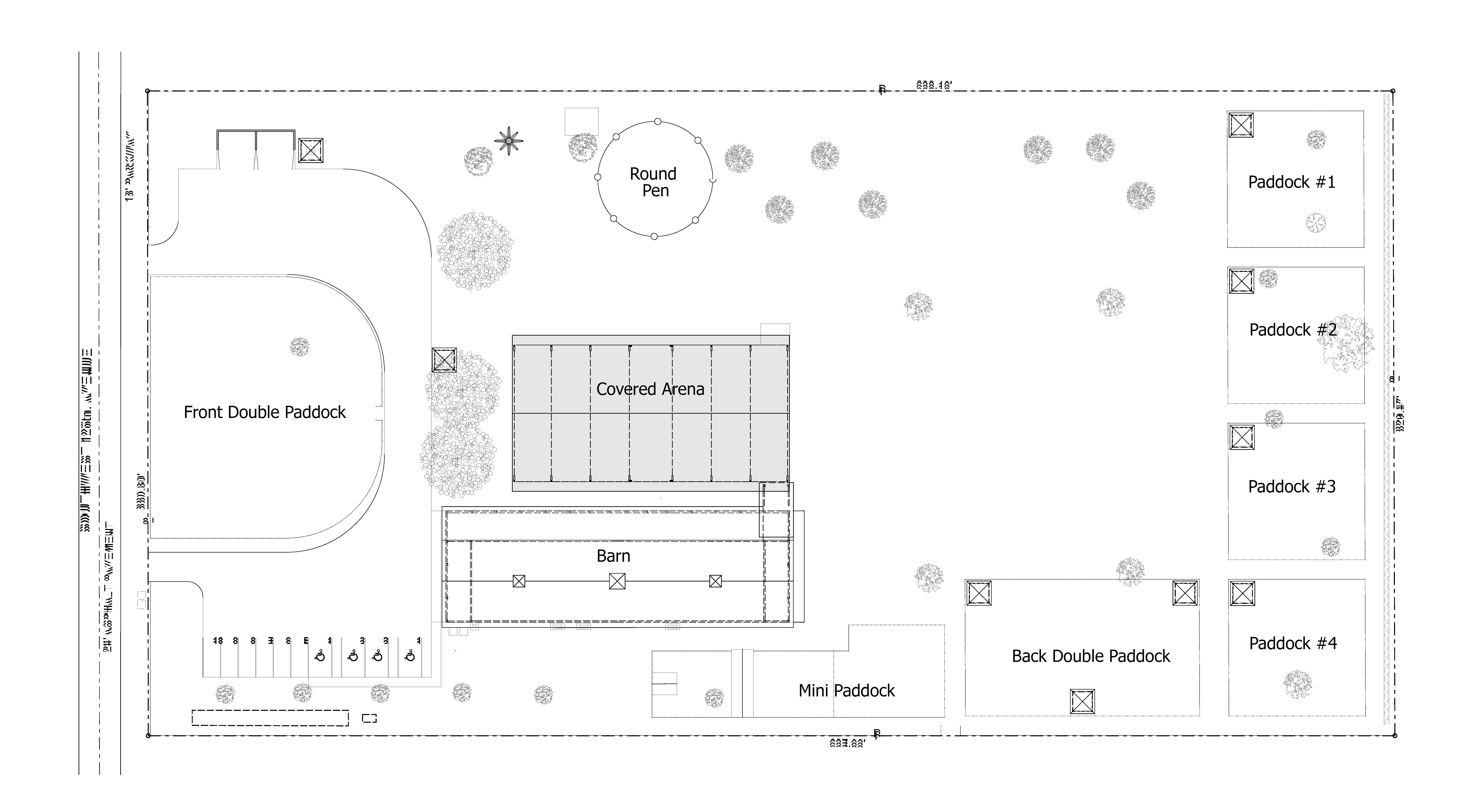Simple Site Plan : Simple site plan labeled whispering manes therapeutic